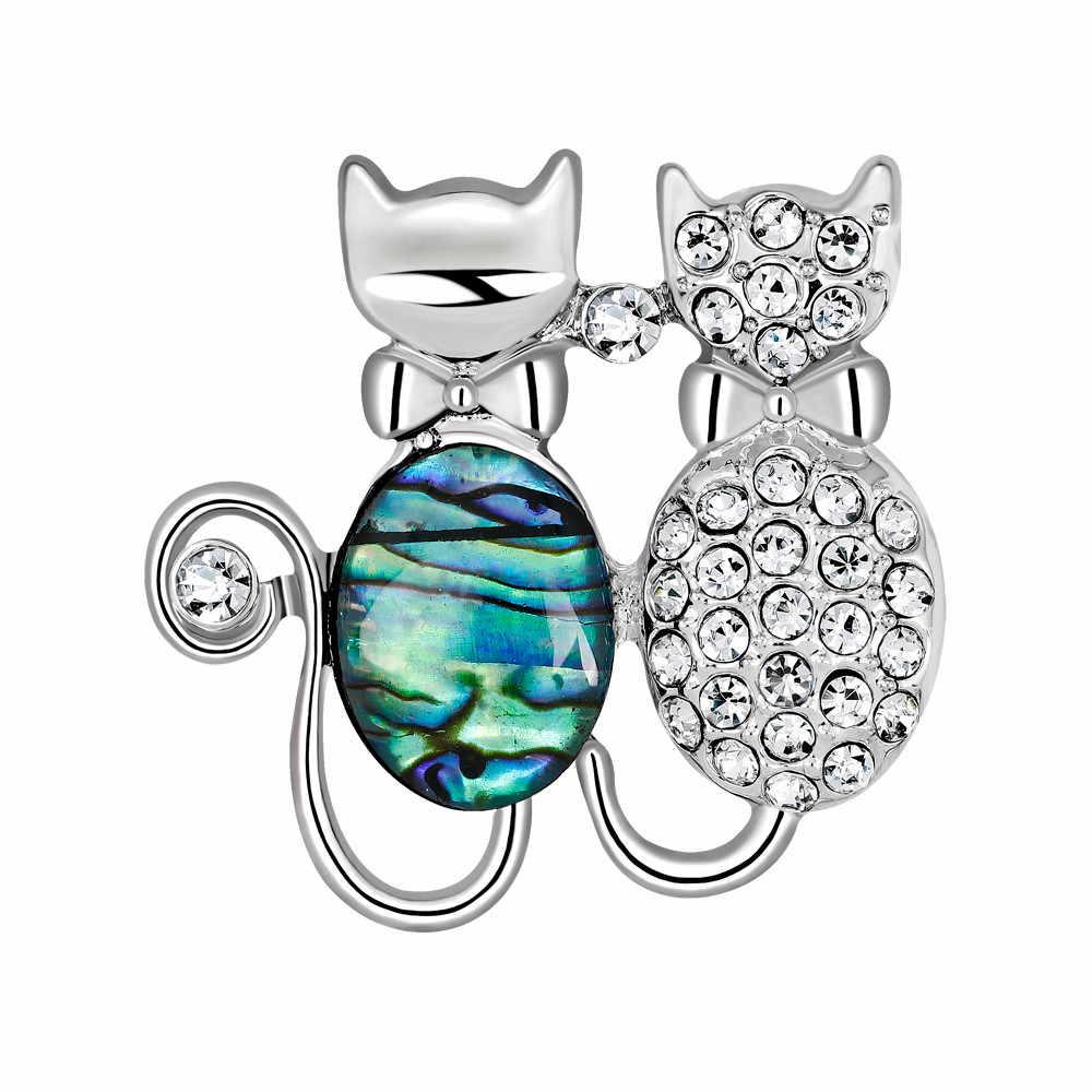 สร้างสรรค์สัตว์ PIN ชุดผีเสื้อแมว Swan Kawaii เข็มกลัดเครื่องประดับเข็มกลัดหินสำหรับผู้หญิงของขวัญฟรีจัดส่ง