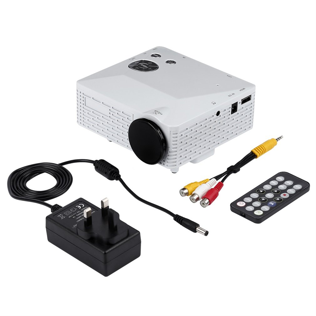 BL-18 Portable Mini LED Projector With USB VGA HDMI AV Multimedia For Party Home Entertainment With Remote Control