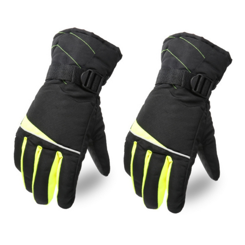 Men And Women Anti-snow Warm Wool Ski Gloves Non-slip Waterproof Motorcycle Snowmobile Gloves Snowboard Gloves Hot New