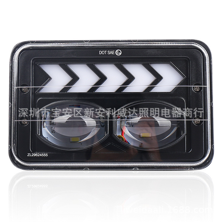 The New Jeep Wrangler 4 X6 Square Lamp 5 Inch Truck Headlights Cross-country Refit Vehicle Lamp LED Headlamps