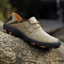 QZHSMY Botas de Couro dos homens Sapatos Casuais Masculinos Respirável Hard Wearing Primavera Outono Sneakers Luz Plana Sapatos Tamanho Grande 38 48