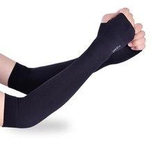 Gants longs pour l'extérieur, Protection contre les UV, protège-main, Protection des bras, soie glacée, Protection solaire, réchauffement des bras, demi-doigts