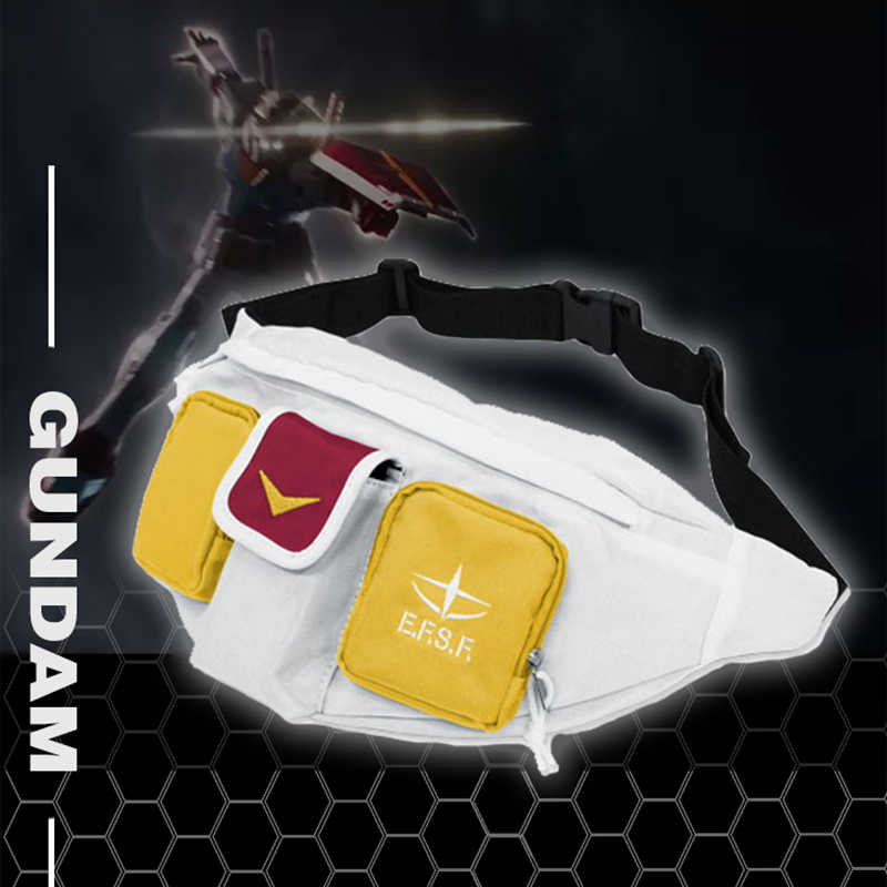 Hot Anime Mobile Suit Gundam RX-78-2 Cosplay Canvas Taille Messenger Bag Draagbare Mode Riem Tas Knapzak Fanny Packs