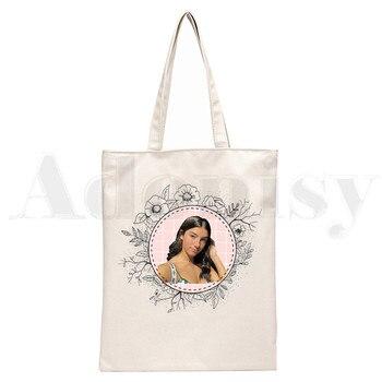 Ice Coffee Splatter Charli DAmelio Ulzzang Print Reusable Shopping Women Canvas Tote Bags Eco Shopper Shoulder Bags 22