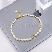 Báthory Elizabeth Famous Brand Vintage Pearl Choker Necklace For Women Fashion Jewelry Chain Necklace
