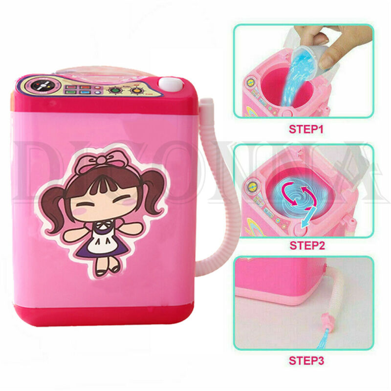 Mini Electric Makeup Brush Washing Machine Portable Automatic Cute Cosmetic Powder Puff Cleaner Makeup Cleansing Device
