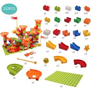 Image 3 - Marmor Rennen Run Block Große Größe Kompatibel Duploed Bausteine Kunststoff Trichter Rutsche DIY Montage Ziegel Spielzeug Für Kinder