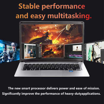 Student laptop 14.1 inch Windows 10 Intel E8000 Quad Core 4GB RAM 64GEMMC and SSD Notebook with Bluetooth Webcam for office game