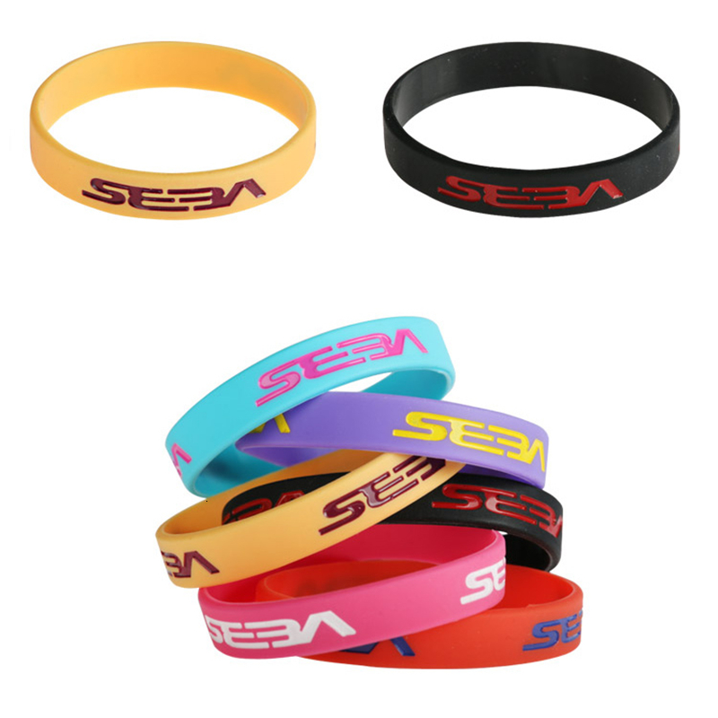 10 Pieces10 Colors For SEBA Bracelet Plain Silicone Gel Wristband For Skating Sport Personality