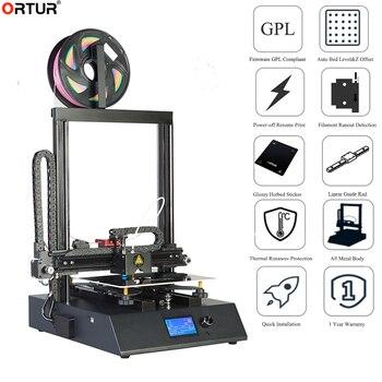 Высокоточный 3D принтер Ortur 4 большого размера Marlin 2,0 с открытым исходным кодом, источник питания, легкая линейная направляющая