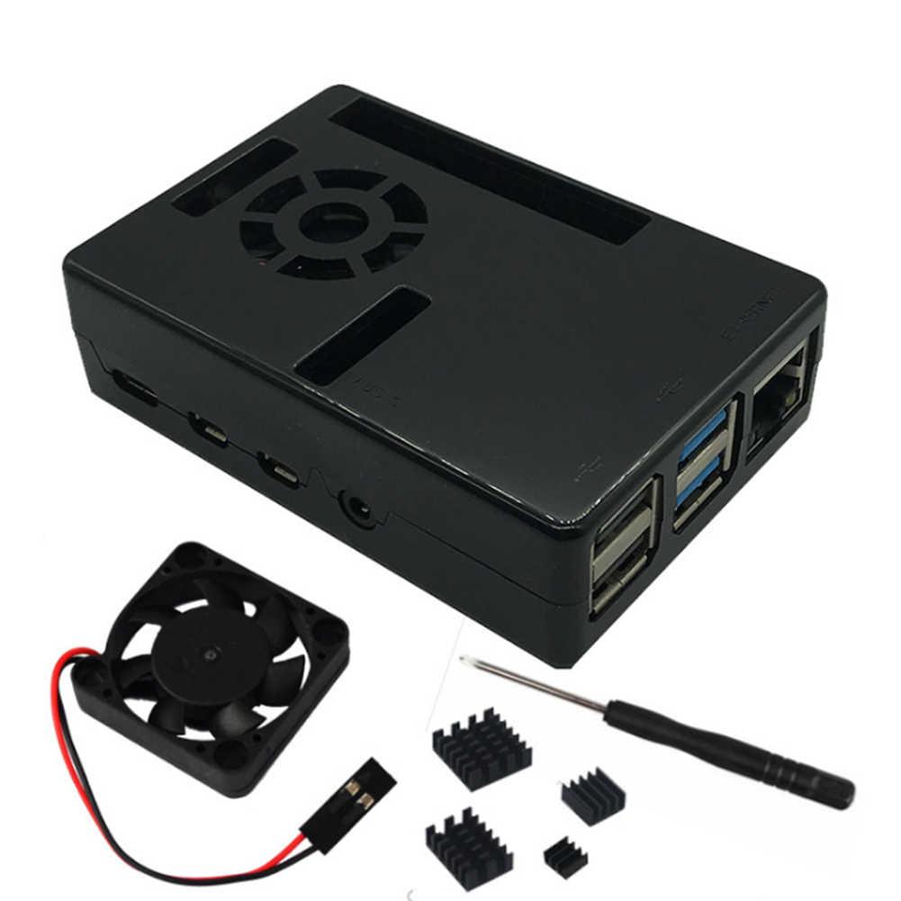 מארז חום פיזור מגן ABS מקרה מוצק עם קירור מאוורר 1GB 2GB 4GB גוף קירור פלסטיק תיבת עבור פטל Pi 4B