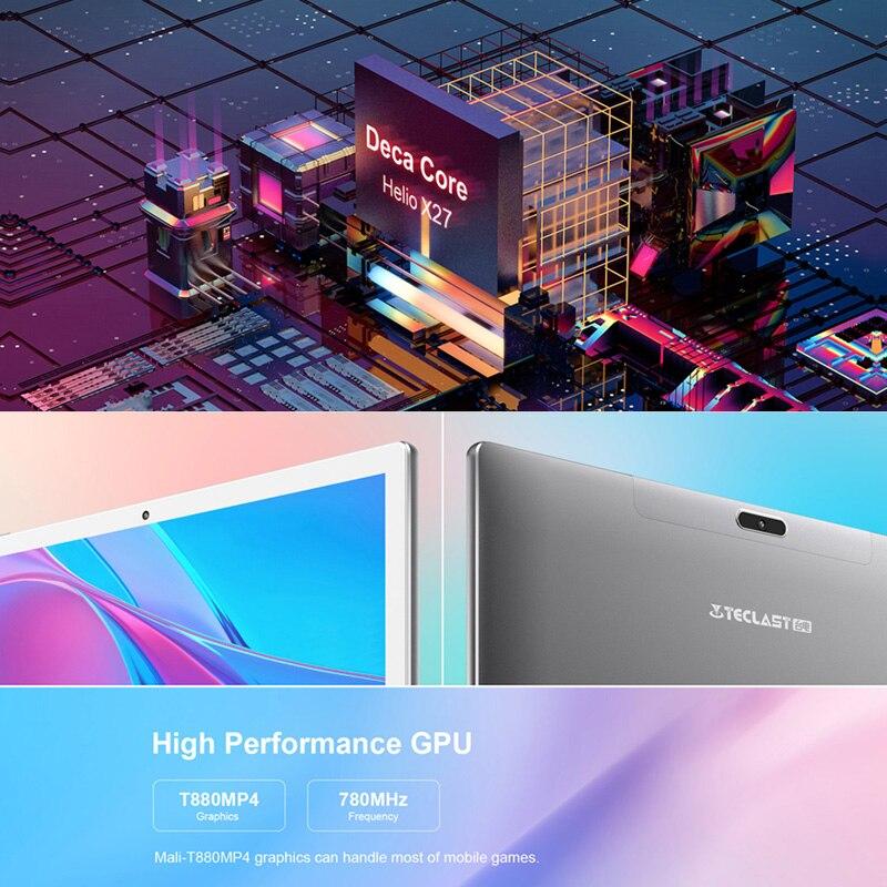 Image 3 - Teclast tablet M30 PC 10,1 polegadas Android, 2560*1600 IPS ligações 4G notebook 4GB RAM 128GB ROM Tipo C GPSTablets   -