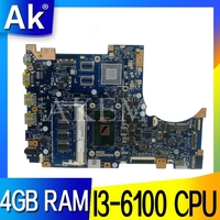 Novo!!!! Para For Asus tp301u tp301ua tp301uj tp301uj computador portátil placa-mãe tp301ua mainboard 100% testado I3-6100 cpu 4gb ram