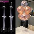 2 комплекта, 7 трубок, держатель для воздушных шаров, аксессуары для первого дня рождения, вечерние украшения для детей, для мальчиков и девоч...
