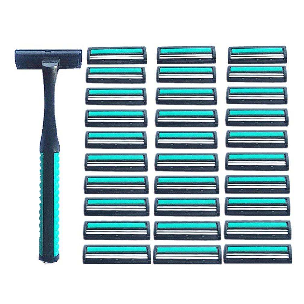 Men's Manual Razor Two-layer Shaving Razor 1 Handle 30 Blade Set Men's Beard Knife Razor Tool Men's Shaving Razor