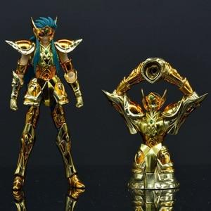 2PCS/Set SG Model Saint Seiya Aquarius Camus Gold Saint Object Shape PVC Action Figure Model Toys DDP Size In Stock