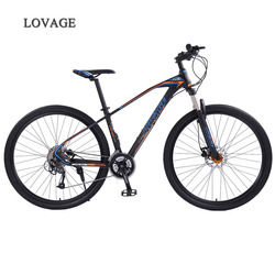 wolf's fang mountain bike bicycle 29inches 27speed Aluminum alloy frame  road bike Spring Fork Front and Rear Mechanical bicycle