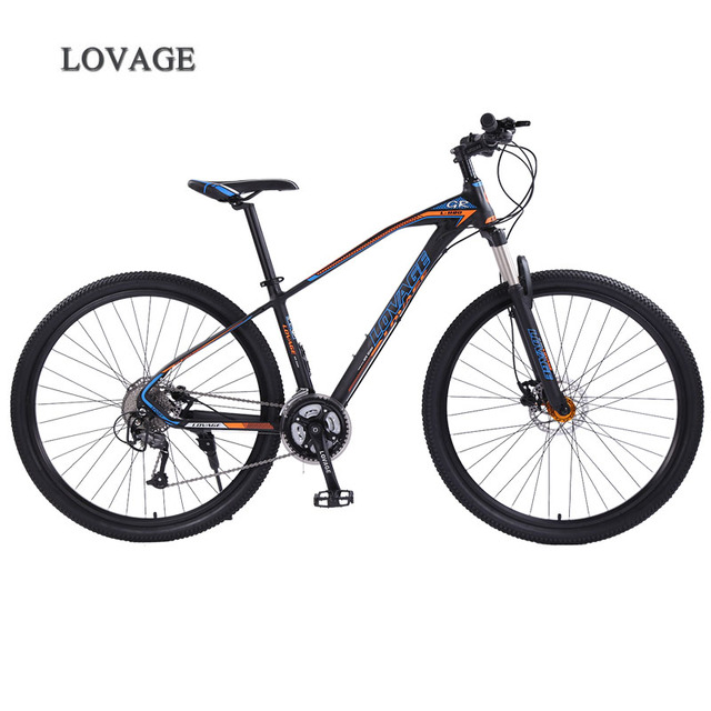 wolfs fang mountain bike bicycle 29inches 27speed Aluminum alloy frame  road bike Spring Fork Front and Rear Mechanical bicycle