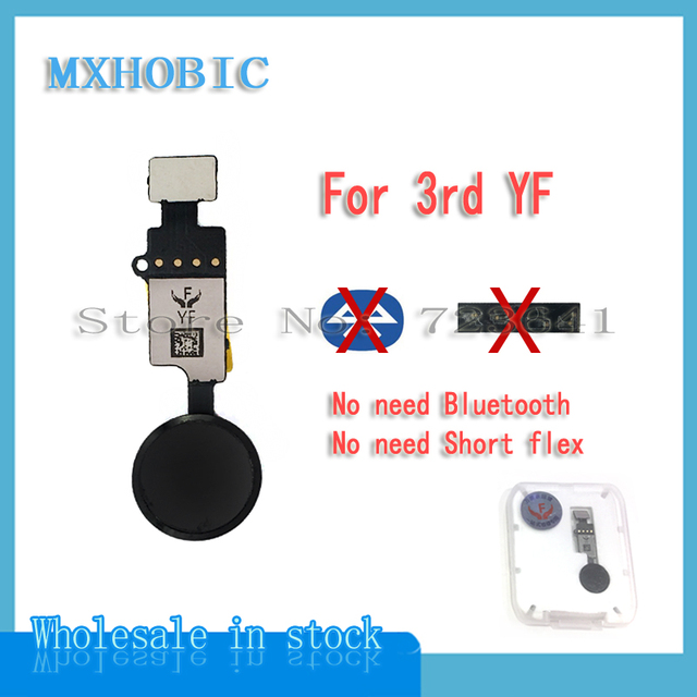 5Pcs Universele Home Knop Flex Kabel Voor Iphone 7 8 Plus Return Key Functie Oplossing 3rd Yf 6th Jc lint Vervanging
