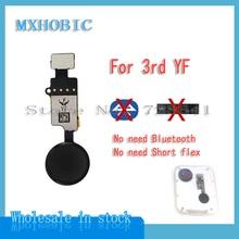 Cabo flexível botão início universal, 5 peças, para iphone 7 8 plus, solução de função chave retorno 3rd yf 6th jc substituição de fita