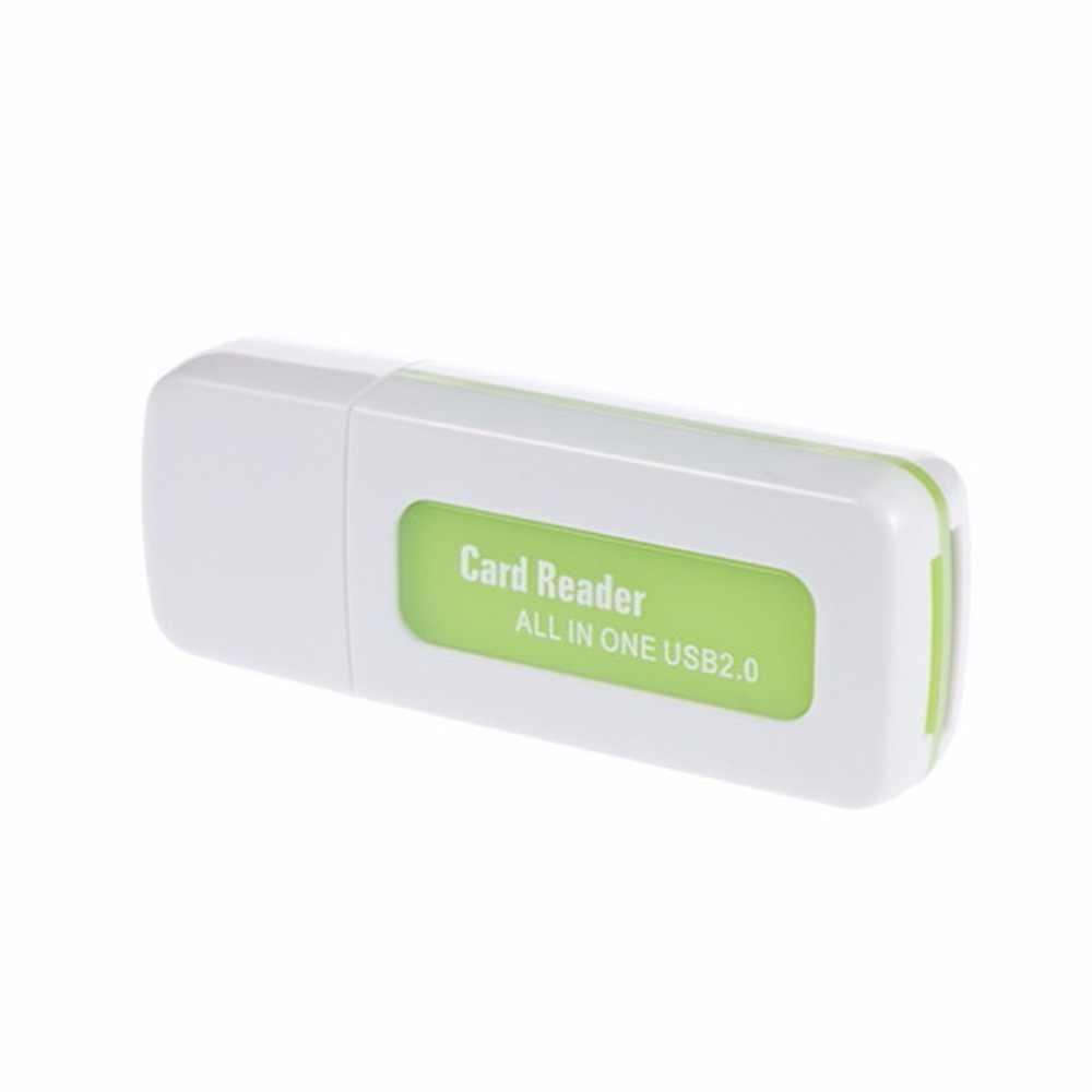 1 قطعة USB 2.0 4 في 1 ذاكرة متعددة قارئ بطاقات ل M2 SD SDHC DV مايكرو SD TF بطاقة الأخضر الجملة مخزن