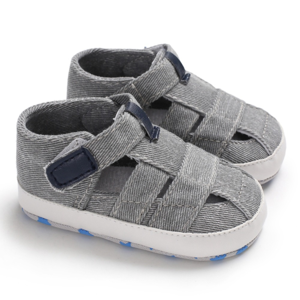 0-18M Summer Baby Boy Breathable Anti-Slip Hollow Design Shoes Sandals Toddler Soft Soled