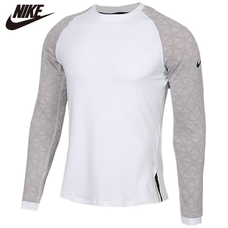 Original <font><b>NIKE</b></font> AS M NP TOP LS UTILITY THRMA cotton Long Sleeve Soft <font><b>Tshirts</b></font> Comfortabe Clothing Limited Sale image