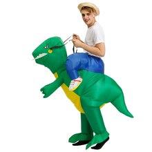Disfraz inflable para halloween, caballo, dinosaurio, Motor, disfraz de fantasía, unisex