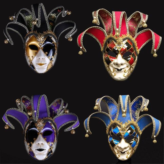 Полнолицевая Венецианская Маскарадная маска Джокера Марди Гра реквизит для косплея на Хэллоуин унисекс