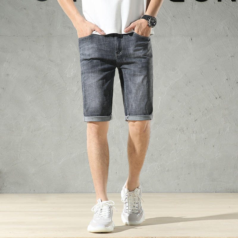 Men Summer New Style 2019 Korean-style Medium Waist Thin Short Jeans Casual Versitile Fashion Hot Sales Summer Pants