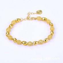 Gold-plated openwork fashion ladies bracelet simple high-end temperament beauty bracelet цены