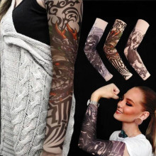 wholesale 1pcs arm warmers cycling sleeves manga tattoo sleeve printed uv protection mtb bike bicycle arm protection ridding 5PCS Outdoor Cycling Sleeves 3D Tattoo Printed Arm Warmer UV Protection MTB Bike Bicycle Sleeves Arm Protection Ridding Sleeves