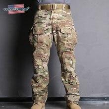 Emersongear azul etiqueta g3 calças táticas camo calças militar do exército caça de alta qualidade genuíno multicam calças carga dever dos homens