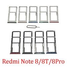 Phone SIM SD Card Trays For Xiaomi Redmi Note 8 Por 8T Original Phone SIM Chip Card Slot Holder Drawer Part For Redmi 8T 8 Pro