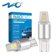NAO T10 W5W светодиодный 5w5 DRL светильник 12V Авто 3030 SMD 194 168 зазор пластина светильник 6000K 450LM ксеноновые, белые, Желтые красные автомобильные аксес...