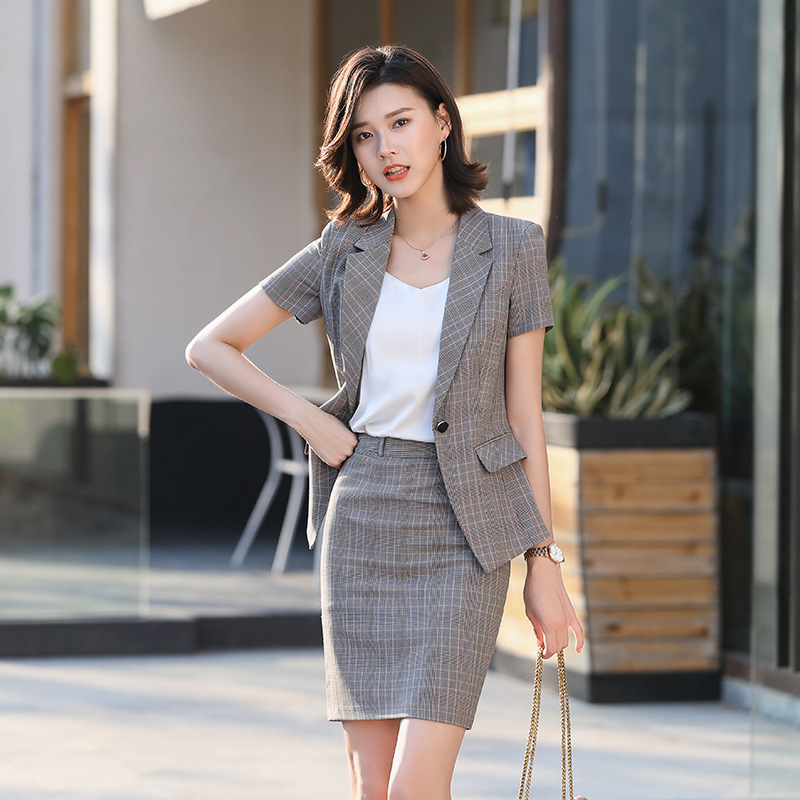 Professional Suit Female 2020 Spring And Summer New Fashion Korean Suit Suit Skirt Temperament White-collar Business Formal Suit