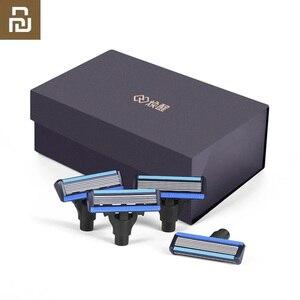 Image 1 - Youpin hommes rasoir magnétique remplacer les lames pour Mi Mijia hommes rasoirs pour rasoir seulement