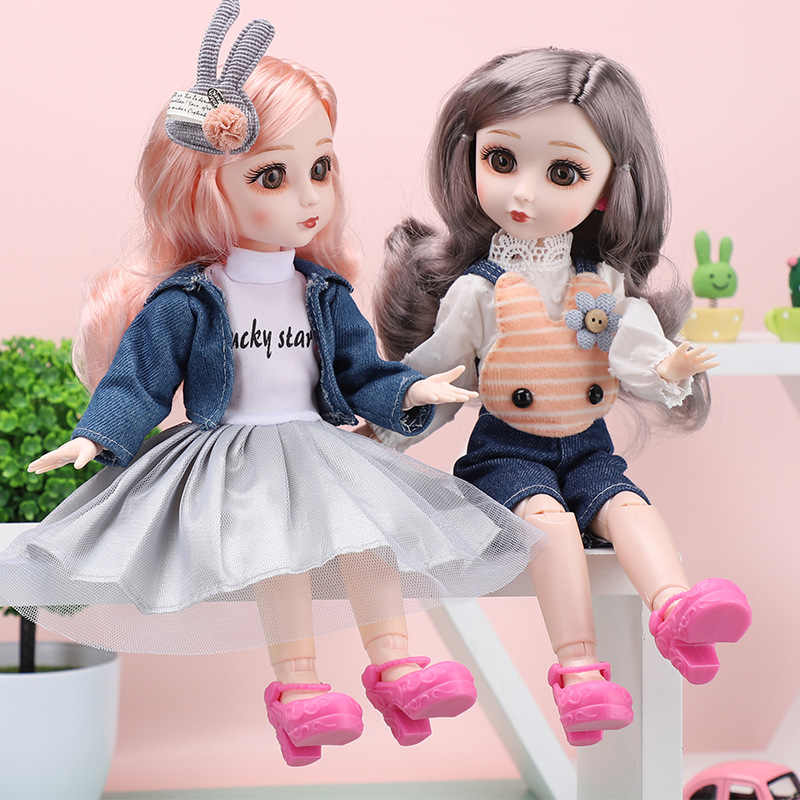 New 1/6 12 Inch BJD Dolls With Clothes 23 Movable Jointed 30 CM Dressing Change Makeup Fashion BJD Dolls Toys for Children Gifts