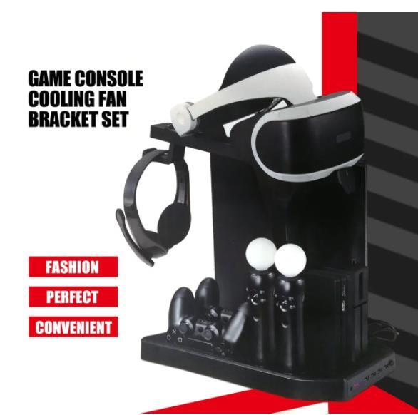 Вертикальная подставка для контроллера зарядного устройства, док-станция для контроллеров PS4 Slim, PSVR/PSVR2