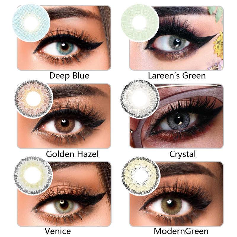 KSSEYE 2 sztuk/para LAREEN Butterfly soczewki kontaktowe kontakty kosmetyczne naturalne kolorowe szkła