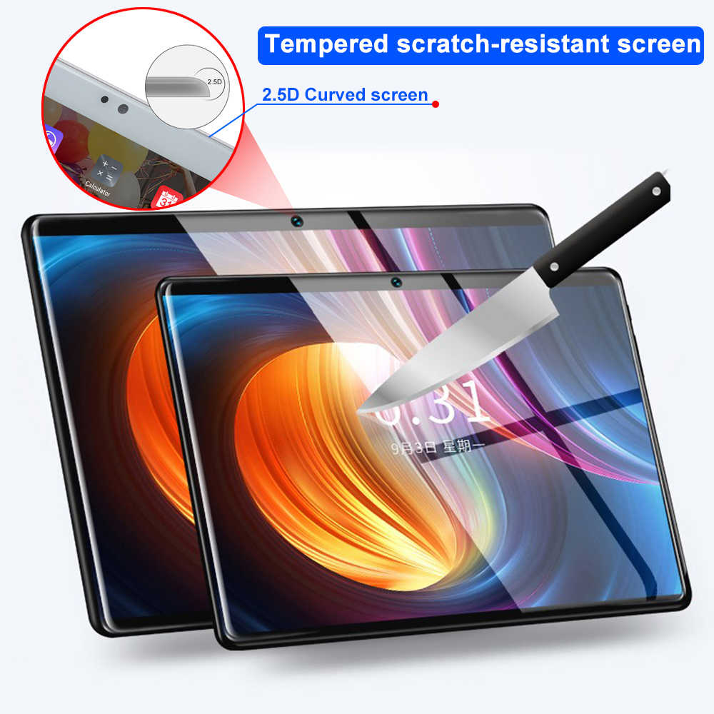 Gratis Gift 128 Gb Tf Card 1920X1200 2.5D Gehard Glas Screen 10 Inch 8 Octa Core 3G 4G lte Tablet Pc 3 Gb Ram Android 7.0 Tabletten