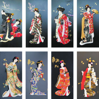 Japanese decorative ornaments hanging picture clothes dolls Japan sushi restaurant house wine food shop home decoration painting