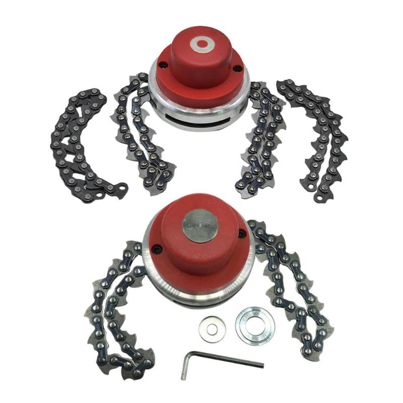Universal Lawn Mower Trimmer Head Chain Brushcutter With Thickening Chain For Lawn Mower Garden Grass Brush Cutter Tools