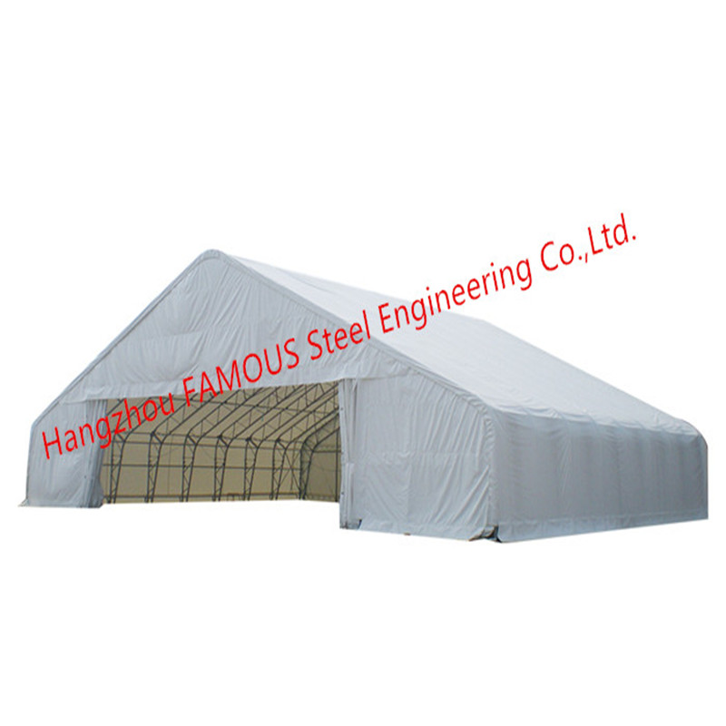 Climbing Roof Type Metal Storage Tents Outdoor Windproof PVC Steel Framed Hangars CE Certified