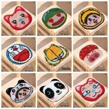 Japan Anime Latch Hook Cartoon Cat Do It Yourself Carpet Embroidery Cushion Button Package Sale Sets Smyrna knoopkussen dieren