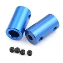 5mm 8mm Acoplamiento de aleación de aluminio diámetro interior 3D impresoras piezas azul Flexible eje acoplador tornillo parte para accesorios de Motor paso a paso