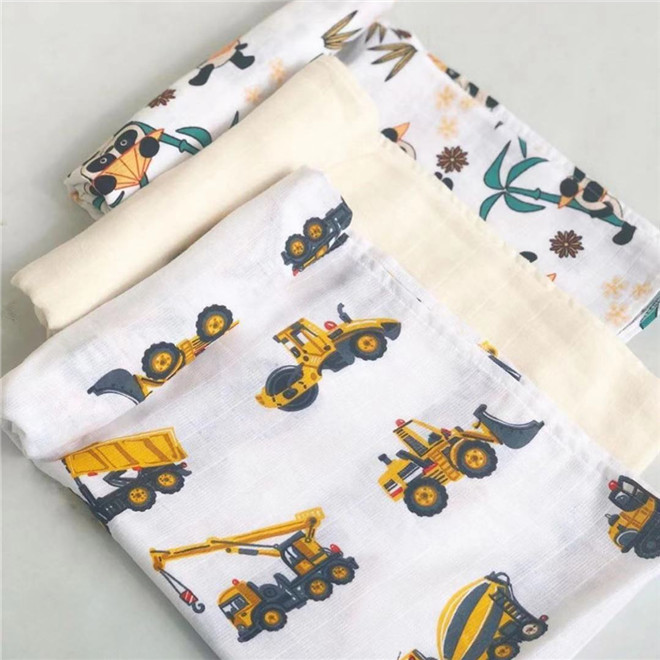 120cm*110cm Cotton Baby Swaddles Blanket Swaddle Newborn Organic Cotton Bamboo Baby Blanket Muslin Diaper