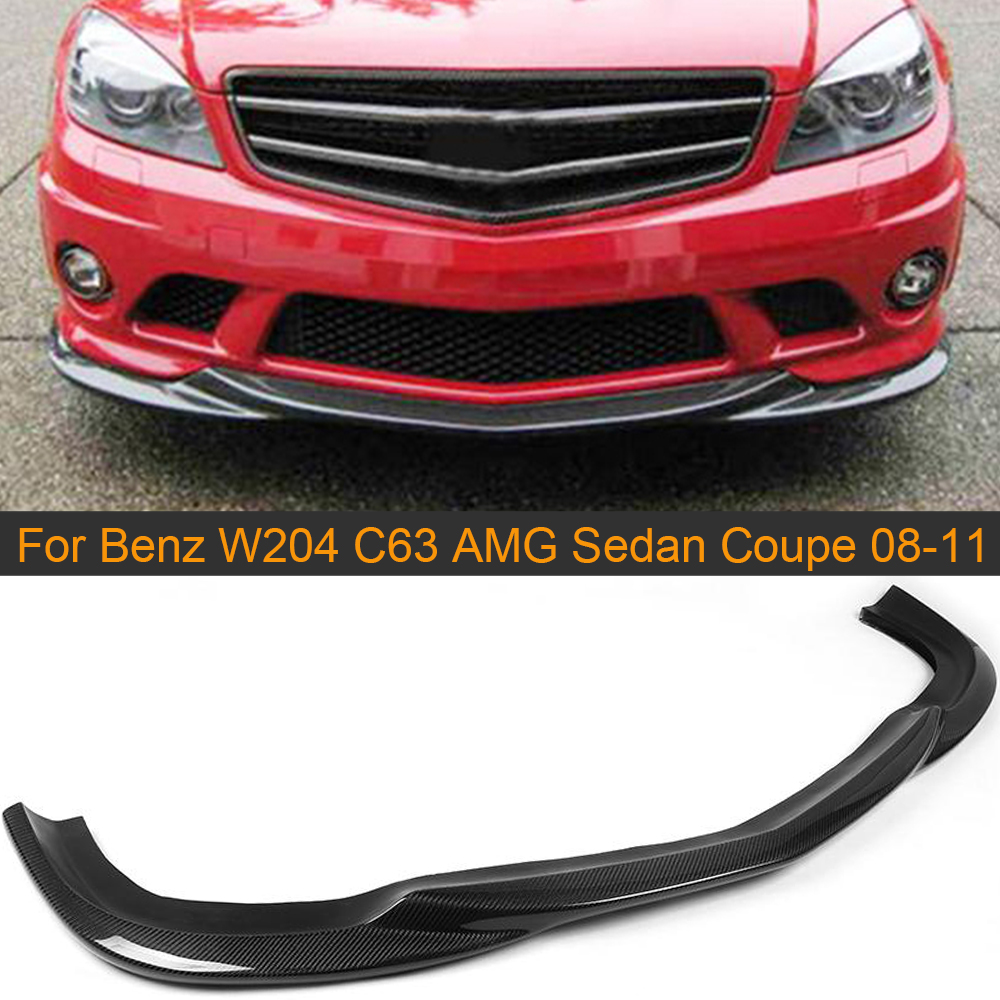 C Class Carbon Fiber Car <font><b>Front</b></font> Bumper <font><b>Lip</b></font> Spoiler for Mercedes <font><b>Benz</b></font> <font><b>W204</b></font> C63 AMG Sedan Coupe 2008 - 2011 Car <font><b>Front</b></font> <font><b>Lip</b></font> Spoiler image