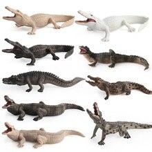 Simulation Wilden Krokodil Figure Sammeln Spielzeug Krokodil Wilden Tier Action figuren Kinder Tier Weiche Gummi Spielzeug