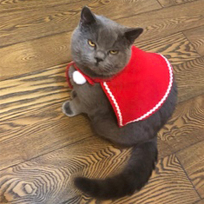 Pet Dog Cat Clothes Costume Halloween Cat Hat Scarf Suit Cloak Dress up New Year Pet Costume Cloak Christmas Clothes Mascotas in Cat Accessories from Home Garden
